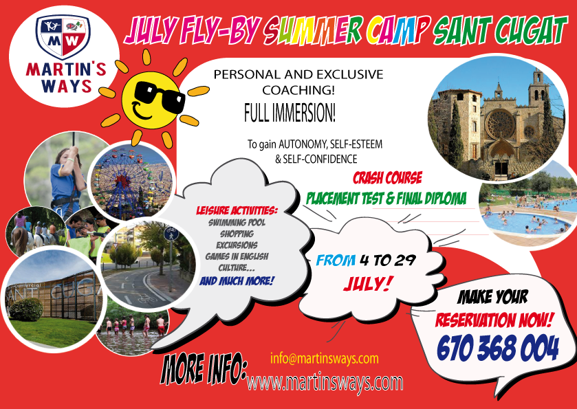 JULY FLY-BY SUMMER CAMP SANT CUGAT